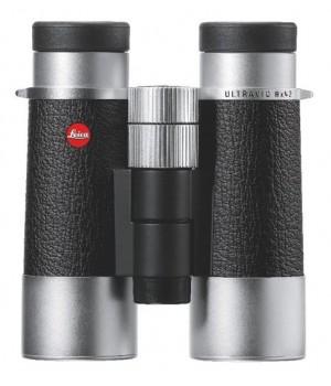 Бинокль Leica Ultravid SilverLine 8x42 комбинация кожа + серебристый корпус