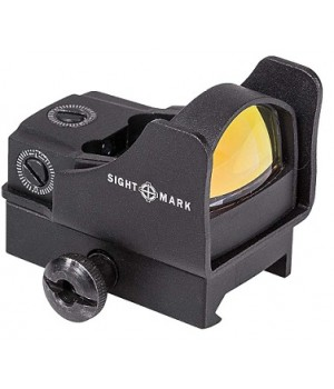 Коллиматор Sightmark Mini панорамный, на Weaver/Picatinny, точка, защитный экран, высокий кронштейн