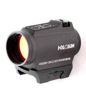 Коллиматор Holosun PARALOW, на Weaver/Picatinny, батарейный лоток, точка/круг-точка 2/65МОА, кронштейн, U-защита