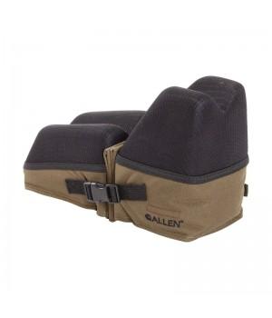 Опора Allen для оружия, мягкая, под приклад и цевье, раздвижная, ткань, песочный/черный