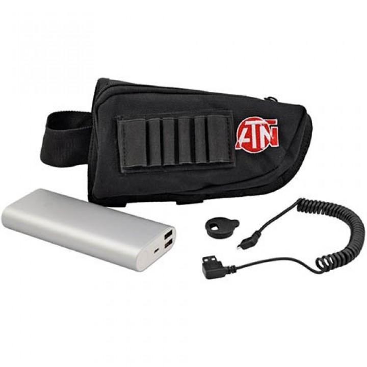 Аккумулятор ATN выносной, емкость 20000 мАч, чехол на приклад/руку, кабель USB/micro-USB, 450гр.