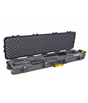 Кейс Plano на 2 оружия, водонепроницаемый, 4 замка/6 запоров, клапан давления, колесики, размер 138x40x15см