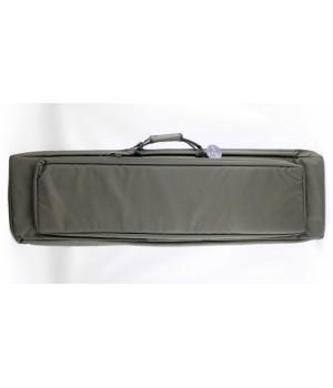 кейс VEKTOR капроновый,с пенополиэтиленом и креплением оружия системой 'молле',зеленый, с рюкзачными лямками и дополнительным внешним отделением для аксессуаров