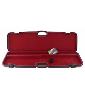 кейс Negrini для полуавтоматов, ствол до 940 мм, черный, с отделениями, красный вельвет, кодовый замок