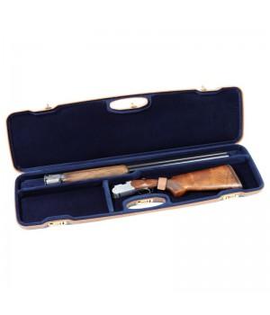 кейс Negrini для гладкоствольного оружия (переломного), материал - пластик, вельвет, кожа. 3 отделения