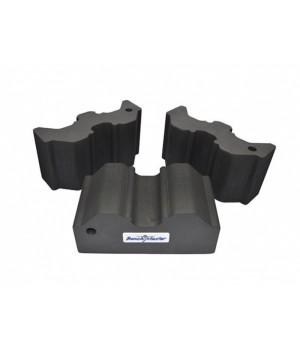 Опора Benchmaster для оружия наборная, жесткая пена, 3 части, прорезиненная основа, черная