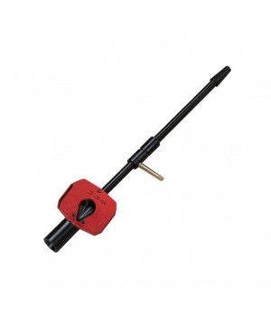 Направляющая шомпола BoreTech, с держателем патча, к. 6,3мм-.30, длина 406мм, алюминий, химически стойкая, красный