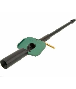 Направляющая шомпола BoreTech, с держателем патча, к. 8мм-.416, длина 406мм, алюминий, химически стойкая, зеленый