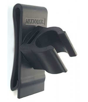 Кронштейн-клипса на пояс, для фонаря диаметром 2-2,5см, материал - нейлон, вращение 360 град