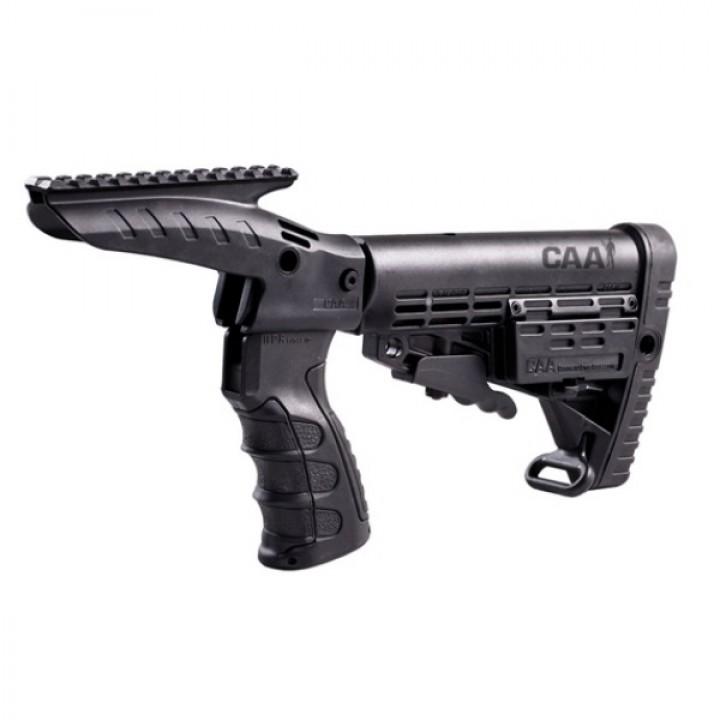 Приклад CAA на Remington 870, телескоп., пистолетная рукоять, планка Picattiny, полимер/алюминий, отсек CR123х4, антабка, черный