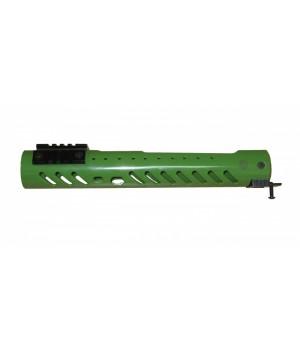 """Цевье тактическое """"Малка"""" круглое, тип Вепрь 12, сплав Д16Т, 3 планки (4 шага), сплав В95, длина 300мм., зеленое"""