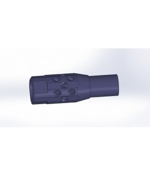 """Переходник-удлинитель """"Дудка-12/Р"""" наличие реактивных отверстий, с сужением 0 мм., для установки дульных устройств"""