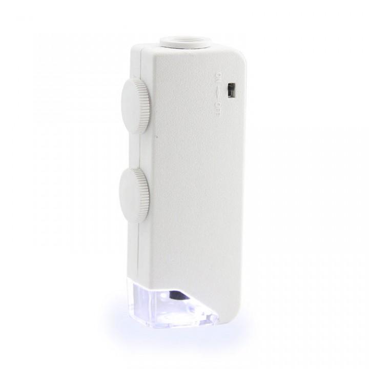 Мини-микроскоп с подсветкой Veber 160х-200х, футляр