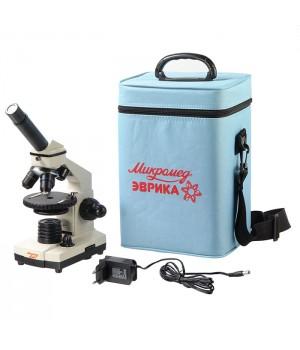 Микроскоп Микромед Эврика 40х-1280х в текстильном кейсе