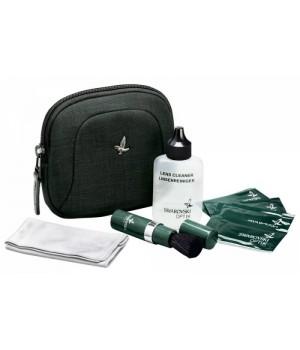 Набор для чистки оптики Swarovski CS в футляре - салфетки влажн., щеточка, чистящ. жидкость, микрофибра