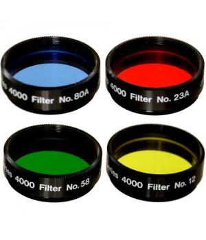 Набор цветных фильтров MEADE #1 (#12, #23A, # 58 , # 80A)