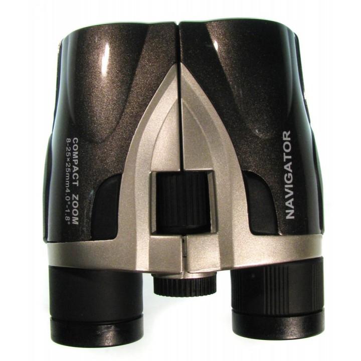 Бинокль Navigator 8-25х25 Roof, серебристо-серый, компактный