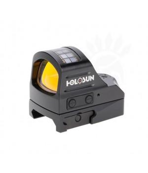 Прицел коллиматорный Holosun OpenELITE micro открытый, точка 2МОА, подсветка 12 (+NV),GREEN