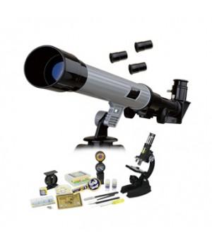 Набор Eastcolight: телескоп 30/400 и микроскоп 100–1000x, 82 аксессуара в комплекте