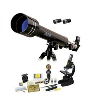 Набор Eastcolight: телескоп 50/500 и микроскоп 100–1000x в подарочном кейсе, 84 аксессуара в комплекте