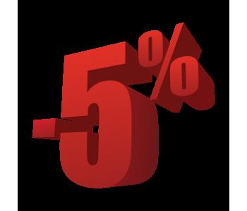 Скидка 5% на товары для охоты, рыбалки, туризма и оптику