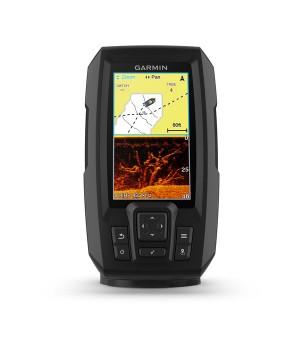 Эхолот рыбопоисковый Garmin Striker Plus 4cv, транцевыйтрансдьюсерGT20-TM, GPS, дисплей 4.3дюйма