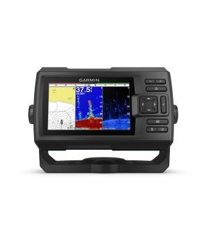Эхолот рыбопоисковый Garmin Striker Plus 5cv, транцевый трансдьюсер GT20-TM, GPS, дисплей 5 дюймов