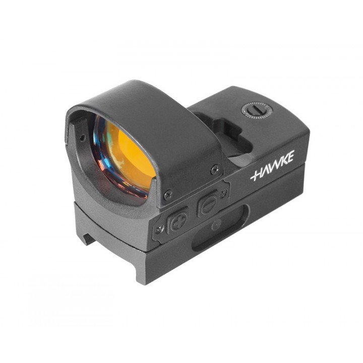 Прицел коллиматорный Hawke Reflex Red Dot Sight - Digital Control Large (5 МОА), точка, на Weaver