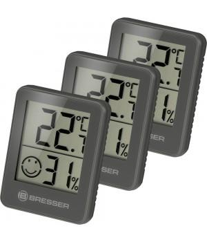 Гигрометр и термометр Bresser Temeo Hygro, набор 3 шт., серый