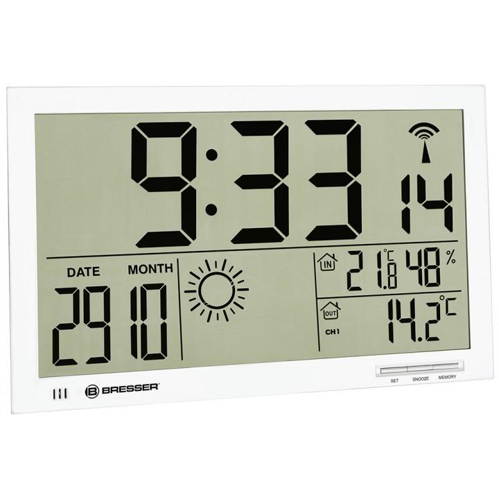 Метеостанция (настенные часы) Bresser MyTime Jumbo LCD, белая