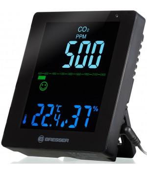 Гигрометр Bresser Air Quality Smile с датчиком CO2, черный