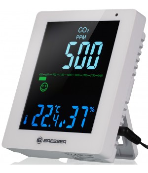 Гигрометр Bresser Air Quality Smile с датчиком CO2, белый