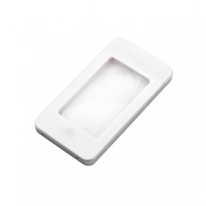 Лупа с подсветкой Veber G188 2,5x-4x, белая, футляр