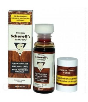 средство для обработки дерева Ballistol-Klever Scherell Schaftol, тёмное, 50мл.
