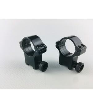 Кольца Rusan быстросъемные Prism 11мм на 25,4мм H15 на винтах