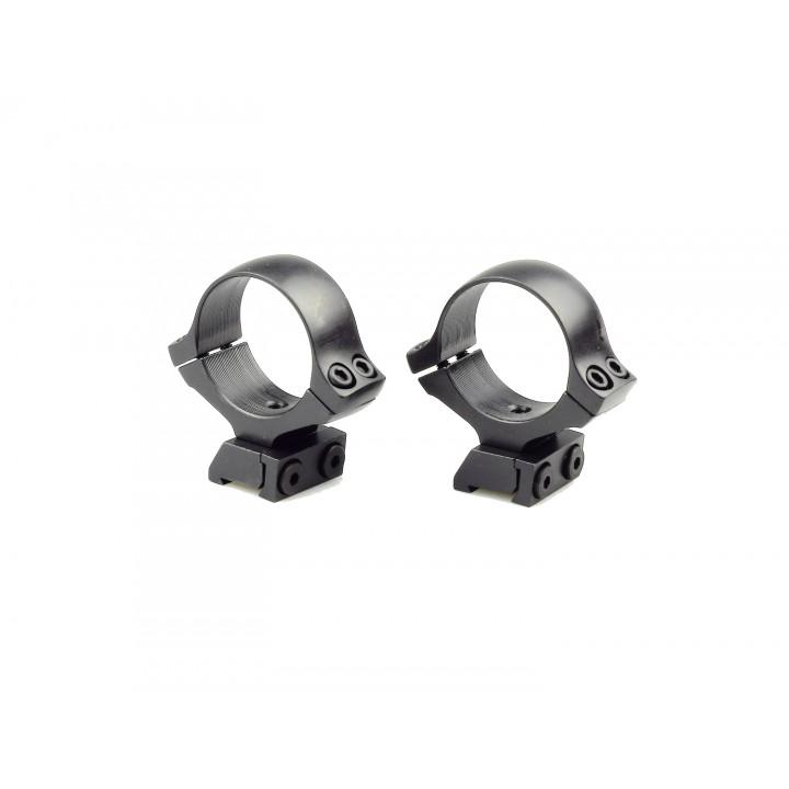 Кольца раздельные KOZAP CZ452 D30мм  BH14.8 (No.21) основание + кольца  низкие