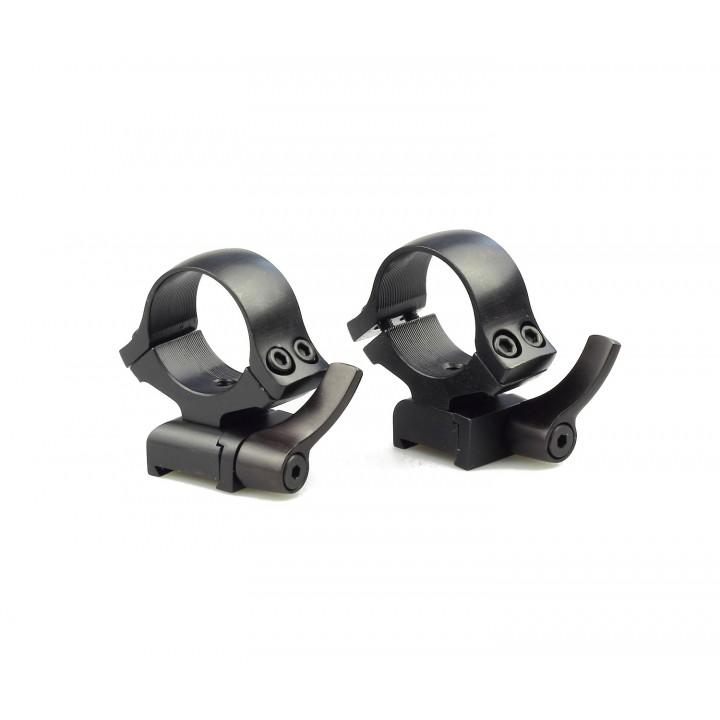 Быстросъемные кольца раздельные KOZAP CZ527 Alfa D26мм BH14.8 (No.64) низкие