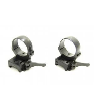Быстросъемные раздельные кольца Apel на Weaver (D26мм,низкие) 365-60800