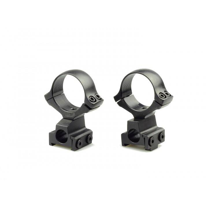 Кольца раздельные KOZAP CZ550/557 Classic D30мм с окном визира BH14.8 (No.12*) низкие