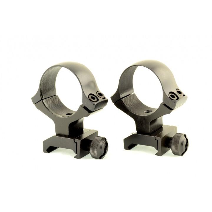 Быстросъемные кольца раздельные KOZAP Weaver D30мм BH=17,8 (No.49)