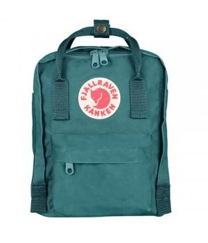Рюкзак Fjallraven Kanken Mini, зеленый, 20х13х29 см, 7 л