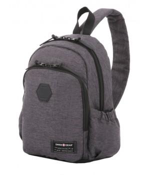 Рюкзак Swissgear 13'', с одним плечевым ремнем, cерый, 25х14х35 см, 12 л