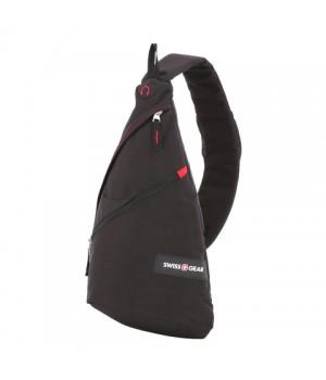 Рюкзак Swissgear с одним плечевым ремнем, черный/красный, 25x15x45 см, 7 л