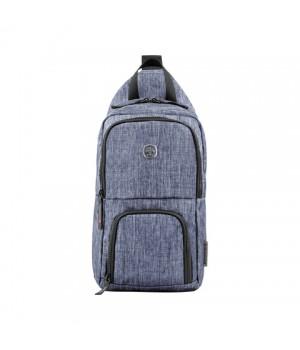 Рюкзак Wenger Urban Contemporary, с одним плечевым ремнем, синий, 19х12х33 см, 8 л