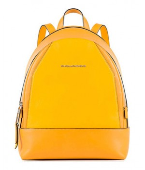 Рюкзак женский Piquadro Muse, желтый, 25x30x12 см